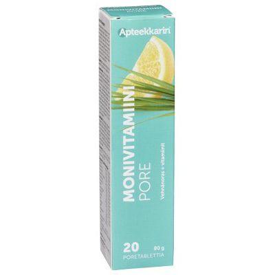 Apteekkarin Monivitamiiniporetabl sitruuna 20 kpl