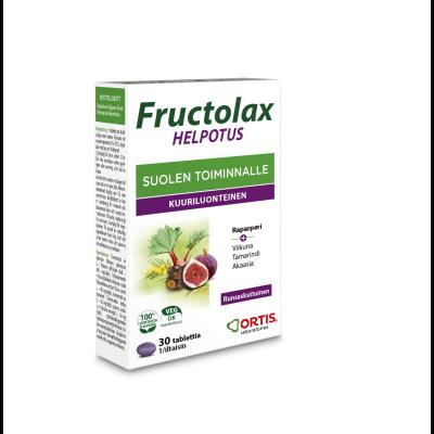 Fructolax Helpotus tabl hedelmä ja kuitu 30 kpl