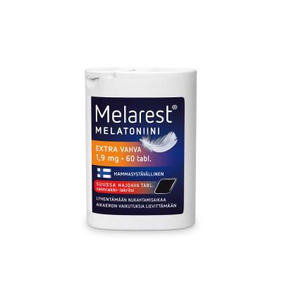 MELAREST MELATONIINI EXTRA VAHVA SALMIAKKI-LAKRITSI 1,9 MG X60 TABL
