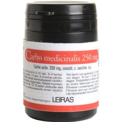 CARBO MEDICINALIS 250 mg tabl 50 kpl