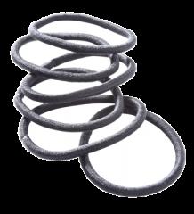 Cailap hiuslenkki musta pyöreä X6 kpl