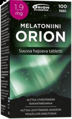 MELATONIINI ORION 1,9 MG SUUSSA HAJOAVA TABLETTI 100 KPL