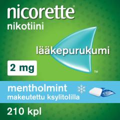NICORETTE MENTHOLMINT 2 mg lääkepurukumi 210 fol
