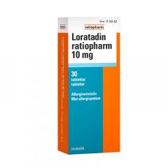 LORATADIN RATIOPHARM 10 mg tabl 30 fol