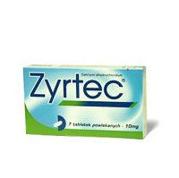 ZYRTEC 10 mg tabl, kalvopääll 10 fol
