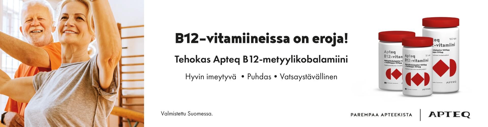 Apteq B12 -vitamiinituotteet, ole hyvä!