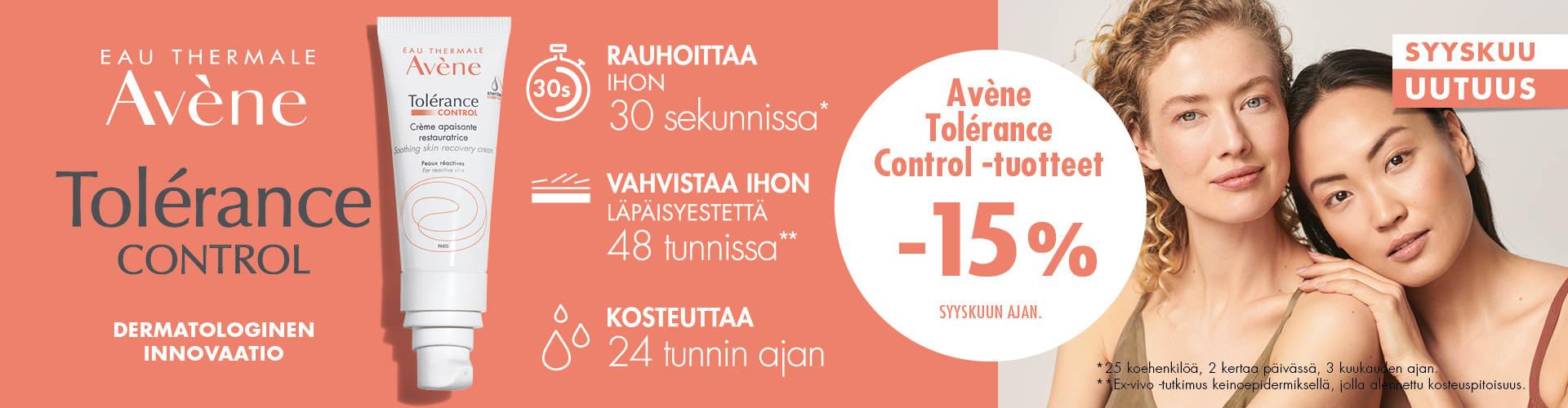 Avene Tolerance Control tuotteet -Rotuaarin verkkoapteekki